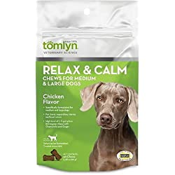 Tomlyn Relax & Calm Chews Medium and Large Dogs 30ct