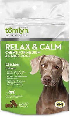 Tomlyn Relax & Calm Chews Medium and Large Dogs (Lyn Me Costume)