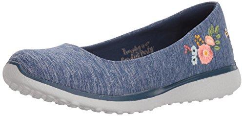 Paradise Closed Skechers Navy Botanical Blue Ballet Microburst Toe Women's Flats qggR74IwEx