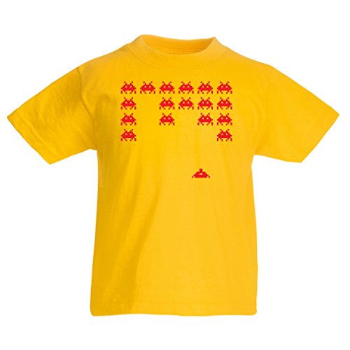 Funny t shirts for kids Vintage pc maniacs funny gamer gifts funny gamer shirts (5-6 years Yellow Red)