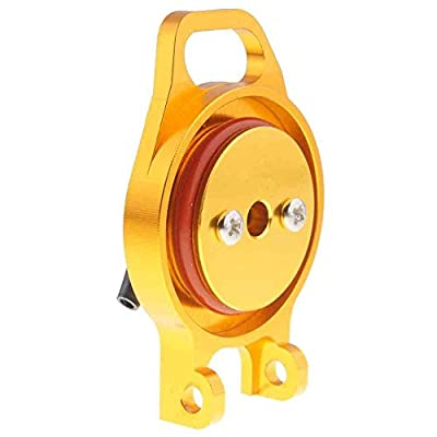 Toyoutdoorparts RC 102059(02004)Gold Aluminum Fuel Tank Cover For HSP 1/10 Nitro Car Buggy Truck: Toys & Games