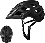 Exclusky BGO Mountain Bike Helmet, CPSC Safety Certified - Comfortable, Lightweight, Breathable