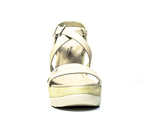 NERO GIARDINI MUJERES sandalias de cuña P512812D 410 arena P5 12812 D