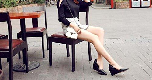 del Planos con Zapatos y Puntiagudos pie Mujeres Estilo 34 39 del del la Rosado Zapatos Las 38 Cuña de Tamaño Negro Negro de Talón Cómodos Tamaño Dedo Blanco Color vdxOzA