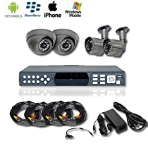4 Channel Security Camera Full Package - Complete Package.500gb Hard Drive
