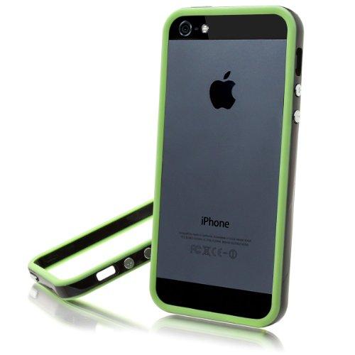XAiOX iPhone 5 5s TPU Bumper Hülle Schutz Case Schutzhülle Handytasche schwarz grün