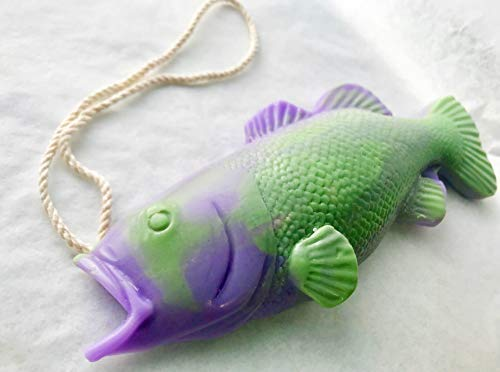(Purple Bass Soap on a Rope, Best Fishing Gifts, Easter Basket Stuffer, Fishing Gifts, Funny Gifts, Birthday Gift, Bass Fishing, Handmade Soap, Gifts for Mom, Funny Gifts, Bathroom Decor)