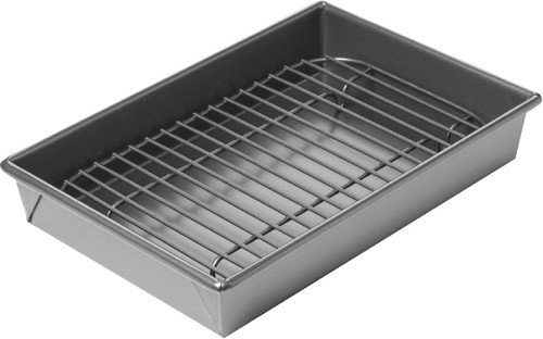 Chicago Metallic 26639 Nonstick Petite Broil & Roast Pan (Broiler Racks For Oven Use compare prices)
