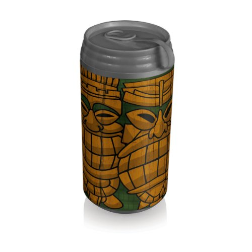 Picnic Time Insulated Micro Can Cooler, Tiki Statue (Tiki Plastic Mugs)