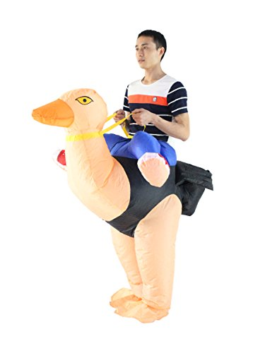 Self Made Costumes Halloween (Seasonblow Inflatable Adult Ostrich Costume Halloween Party Fancy Dress Birthday Cosplay)
