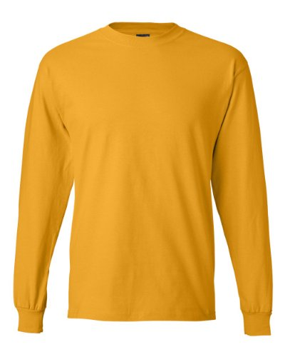 Hanes Beefy-T Men`s Long-Sleeve T-Shirt Gold