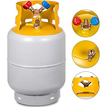 Best Auto Recovery >> Bestauto Recovery Tank Gray And Yellow 30lb Refrigerant Recovery Reclaim 30lb Cylinder Tank 400 Psi R410a Rated