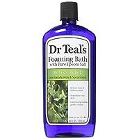 Baño espumoso del Dr. Teal (sal de Epsom), menta de eucalipto, 34 onzas de líquido