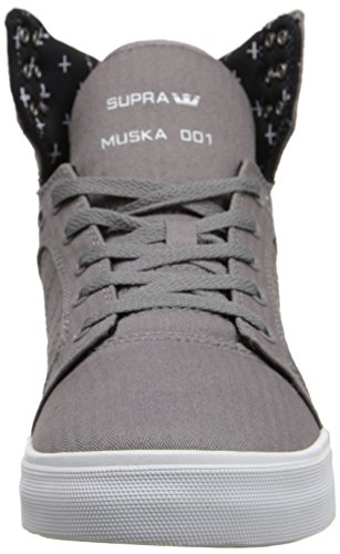 Supra Skytop Gris / Micro-chevrons Sneaker Moyen / 12 C / D Nous Les Femmes / 10.5 D (m) Nous Les Hommes