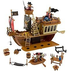 Disney Deluxe Mickey Mouse Pirates of the Caribbean Pirate Ship Playset,Ages3+,N -