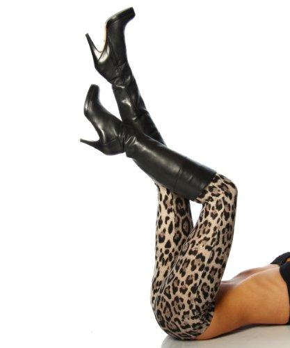Leggings im Leo-Look