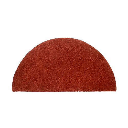 Minuteman International Somerville Red Solid Wool Hearth Rug, Half Round
