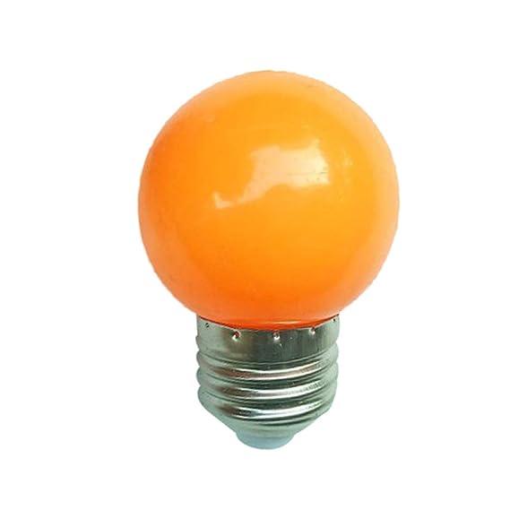 P12cheng - Bombilla LED (220 V, E27, 3 W), color amarillo: Amazon.es: Iluminación