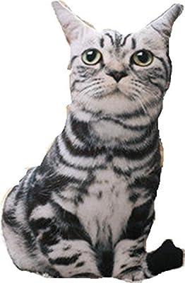 Hi8 3d almohada en forma de gato y un perro – cojín de peluche con diseño de animales manta almohada animal de peluche suave muñeca, Persian Cat, 50cm