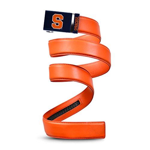 NCAA Syracuse Mission Belt, Orange Leather, Medium (up to 35)