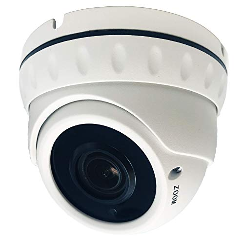 LongPlus 2MP IP 2.8-12mm Manual Zoom Lens IP Night Vision up to 100ft Security Outdoor/Indoor Dome Camera-White