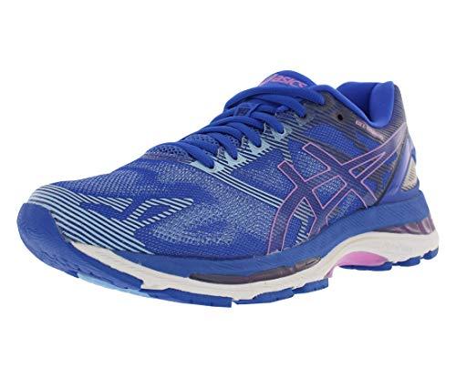 (ASICS Womens Gel-Nimbus 19 Running Shoe Purple/Violet/Airy Blue, 7.5 Medium)