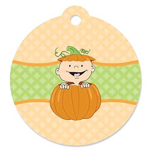 Little Pumpkin - Fall Baby Shower or Birthday Party Favor Gift Tags (Set of ()