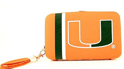 NCAA Distressed Shell Wristlet Miami