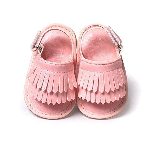 Moresave - Zapatos primeros pasos de Charol para niño Rosa