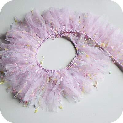 FidgetKute Ruffle Pleated Tulle Trim Gathered Ribbon Frill Sewing Stretch Fabric 10cm 120cm -