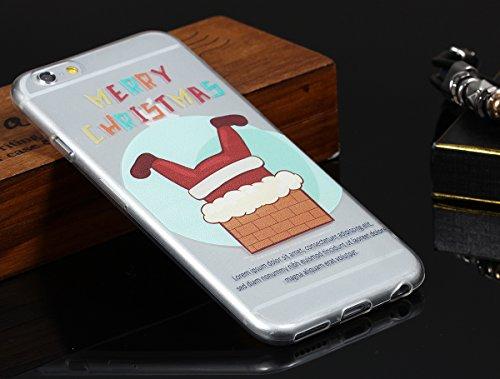 """JewelryWe """"Merry Christmas"""" Frecher Weihnachtsmann TPU Silikon Handy Case Schutzhülle Tasche Hülle Rückenschutzhülle Etui für Apple iPhone 6(4,7""""), Mehrfarbig"""