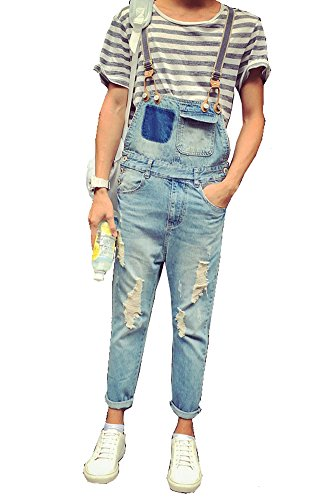 Denim Summer Ripped Pockets Overalls product image