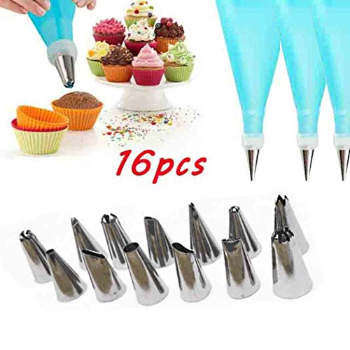 Pinsparkle Western Kitchen Baking Utensils Stainless Steel Cake Decorating Tool Set Icing Dispensers & Tips