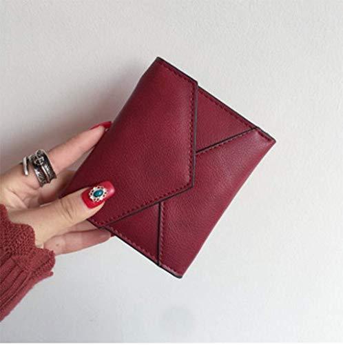 Nuova Mini Portafoglio Carta Del Semplice PALLDDY Versione Piccolo Solido Portafoglio Coreana Portafoglio Di Fibbia Femminile Paragrafo Colore Moneta Pieghevole Red Breve Red E Giapponese 4xFRFwqd