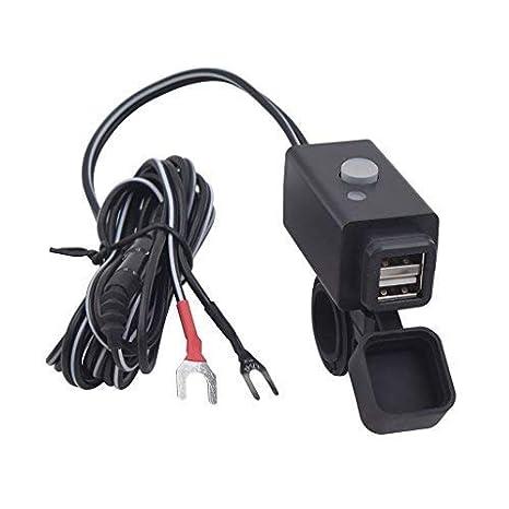 YGL impermeable cargador USB para MOTO con interruptor de ...