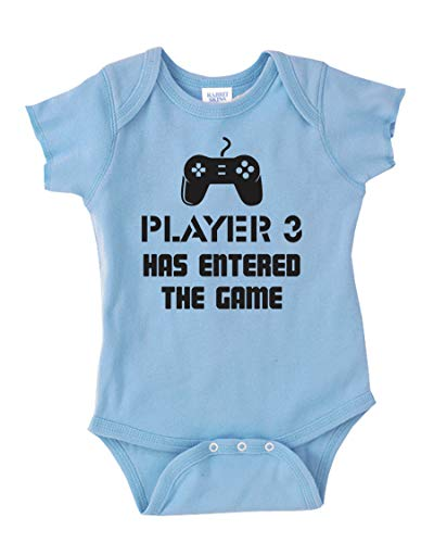 Player 3 Has Entered The Game Cool Infant Baby Novelty One Piece Cute Bodysuit Light Blue 12 Months -