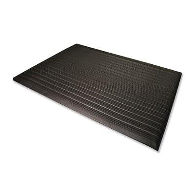 Genuine Joe Anti-Fatigue Mat, Beveled Edge, 2 by 3-Feet, Black