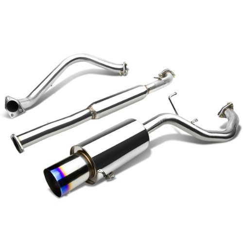 For Mitsubishi Galant Catback Exhaust System 4 inches Burn Tip Muffler - 2.4L I4 4G64
