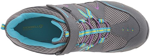 Hilltop Hautes Randonnée Close de Chaussures Quick Merrell Fille Multi Mid Grey Gris d1qw0U