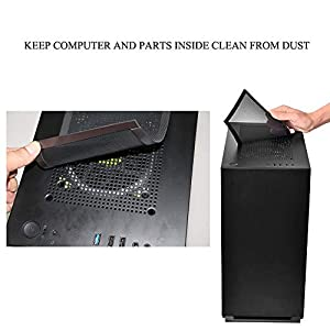 280mm x 140mm Computer Case Fan Dust Filter PC Mesh Filter Cover Grills with Magnetic Frame, Black Color (2 Pcs) (Color: 280mm x 140mm, Tamaño: 280mm x 140mm)