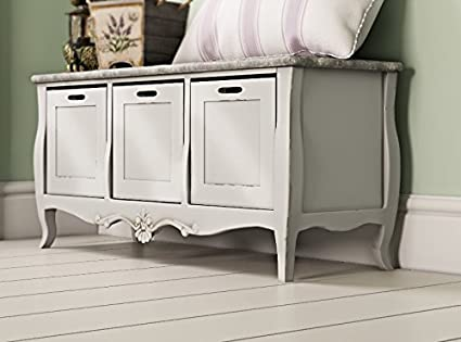 Surprising Rustic Storage Bench French Window Seat Large Cream Andrewgaddart Wooden Chair Designs For Living Room Andrewgaddartcom
