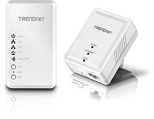 TRENDnet Powerline 500 AV Kit with Wi-Fi Extender, Includes 1 x TPL-406E + 1 x TPL-410AP, 500 AV Powerline and N300 Wireless N, TPL-410APK