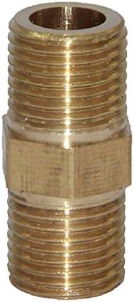 全9サイズ 真鍮管 継手 ねじ継手 ダブルエンド ジョイント コネクタ - 2