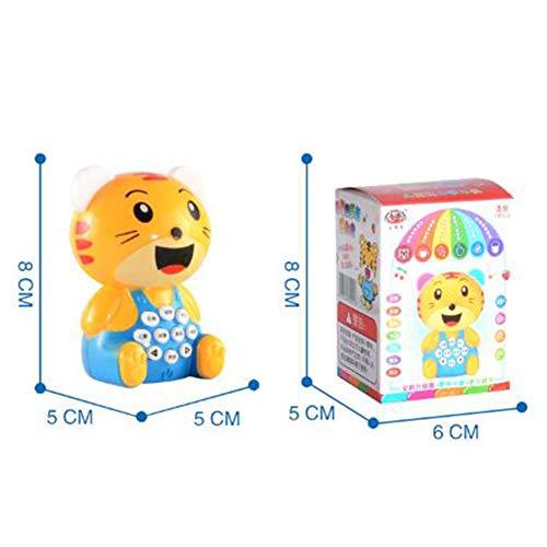 RaiFu ミニ ストーリー 子供 鮮やか 色 かわいい 漫画 タイガー ベア おもちゃ サウンドライト 教育玩具 虎