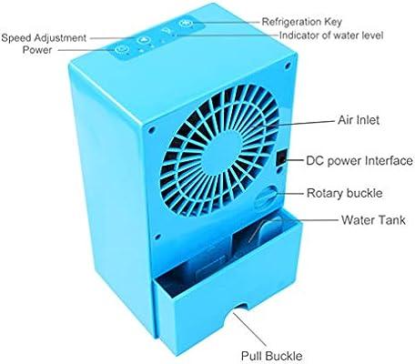 COLER Mini refrigerador de Aire Personal, pequeño Ventilador ...