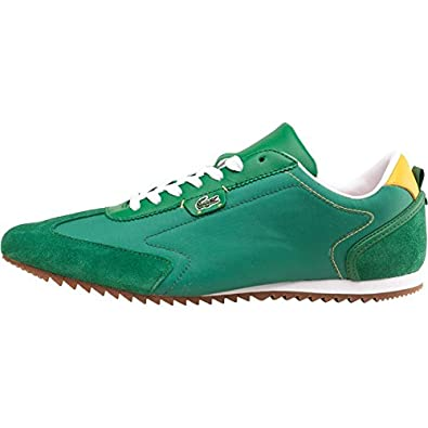 a443789fcc5259 Mens Lacoste Westcott Trainers Green Yellow Guys Gents  Amazon.co.uk  Shoes    Bags