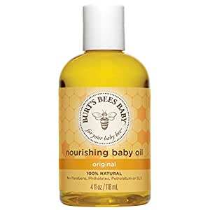 Burt's Bees Baby 100% Natural Baby Nourishing Oil, 4 Ounces (Packaging May Vary)