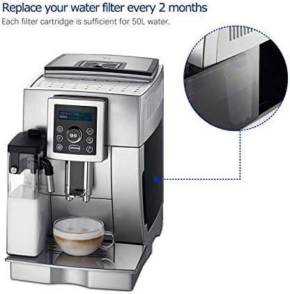 4 Filtros de Agua para Cafetera DeLonghi Filtro DLSC002 con ...