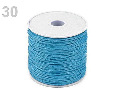 1pc 30 Turquoise Cotton Waxed Cord Ø 1mm, String, Cords and Strings, ()