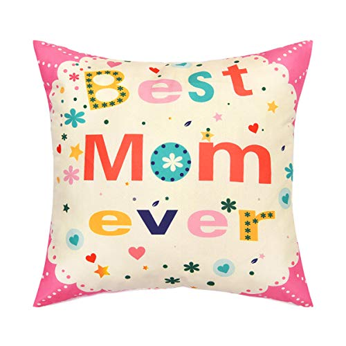 Best Mom Ever Pillow - BLEUM CADE Throw Pillow Cover Best